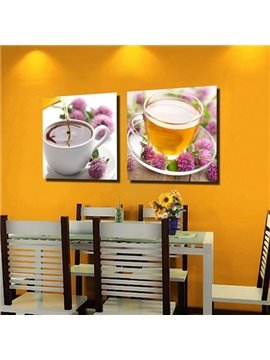 New Arrival Beautiful Herbal Tea Print 2-piece Cross Film  Wall Art Prints