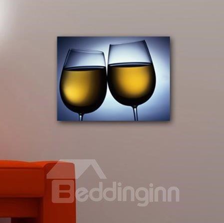 New Arrival Elegant Champagne in Glass Print Cross Film Wall Art Prints