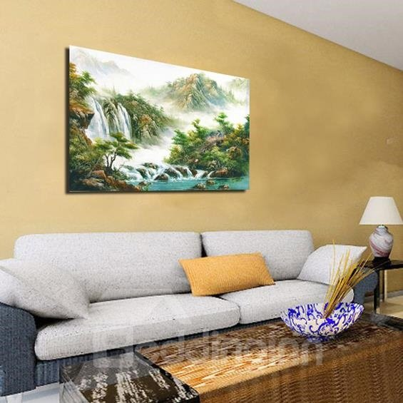 New Arrival Beautiful Landscape Scenery Print Cross Film Wall Art Prints