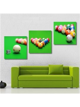 New Arrival Lovely Billiards Print 3-piece Cross Film Wall Art Prints