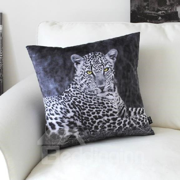 New Arrival Beautiful Lifelike Leopard Patterns Throw Pillow