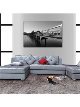 New Arrival Elegant Bridge Print Cross Film Gray Wall Art Prints