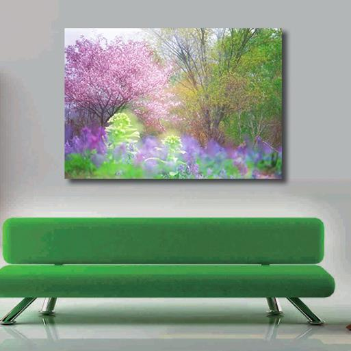 New Arrival Lovely Colorful Flowers and Trees Print Cross Film Wall Art Prints