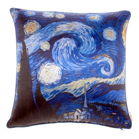 Oil-painting Style Beautiful Starry Sky Print Throw Pillow Case