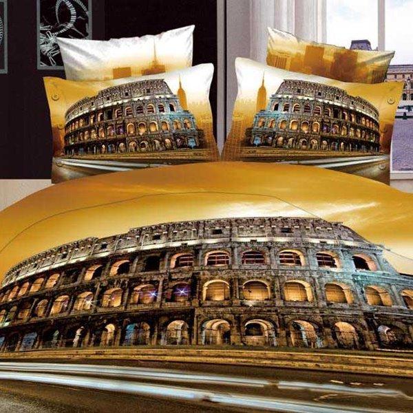 Beautiful Rome Colosseum Scenery Print 4 Piece Bedding Sets