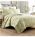 Floral Print Country Style 3-Piece Cotton Bed in a Bag