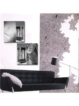 New Arrival Lovely Sand Lock and Clock Print 2-piece Cross Film Wall Art Prints