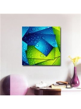 New Arrival Blue and Green Cards with Water Drops Print Cross Film Wall Art Prints