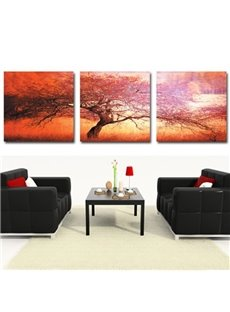 New Arrival Beautiful Big Tree Print 3-piece Cross Film Wall Art Prints