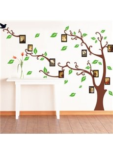 Lovely Cartoon Green Memory Tree Print Wall Stickers
