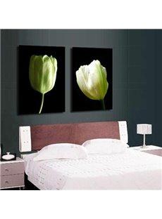 New Arrival Elegant Tulips Print 2-piece Cross Film Wall Art Prints