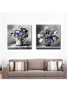 New Arrival Oil-painting Style Lovely Floristry Print 2-piece Cross Film Wall Art Prints