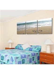 16×16in×3 Panels Beach Printed Hanging Canvas Waterproof and Eco-friendly Framed Prints