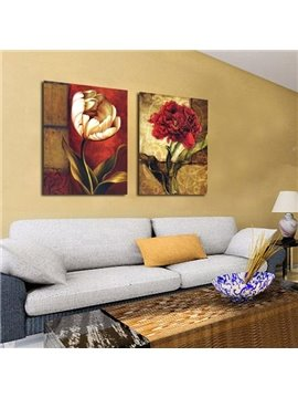 Beautiful Flowers Print 2-piece Cross Film Wall Art Prints