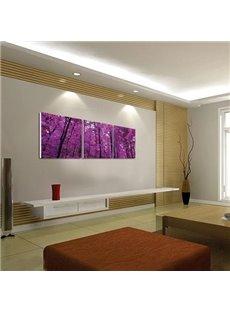 New Arrival Beautiful Purple Trees Print 3-piece Cross Film Wall Art Prints