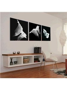 Elegant White Calla Flowers Print 3-piece Cross Film Wall Art Prints
