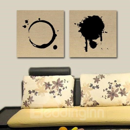 New Arrival Elegant Splashed Ink Print 2-piece Cross Film Wall Art Prints