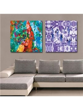 New Arrival Beautiful Colorful Irregular Patterns Print 2-piece Cross Film Wall Art Prints