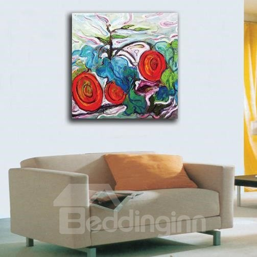 New Arrival Modern Abstract Flowers Print Cross Film Wall Art Prints