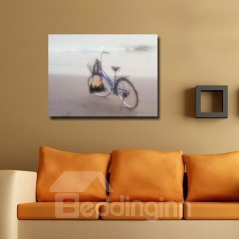 New Arrival Beautiful Bike on the Beach Print Cross Film Wall Art Prints