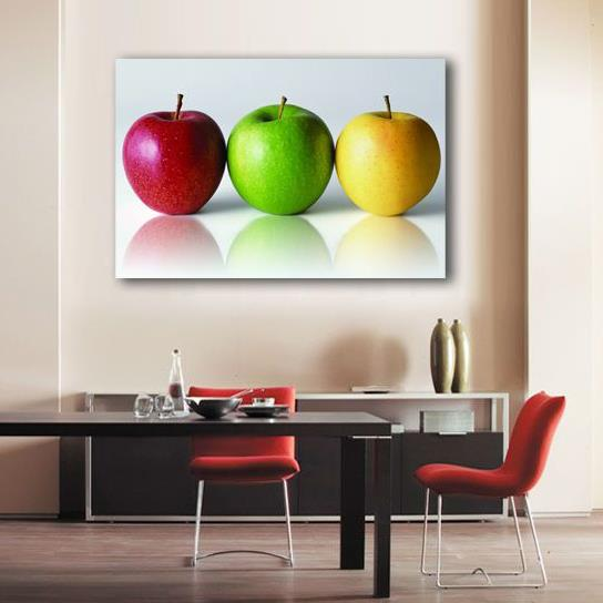New Arrival Lovely Colorful Apples Print Cross Film Wall Art Prints
