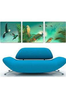 New Arrival Beautiful Animals Print 3-piece Cross Film Wall Art Prints