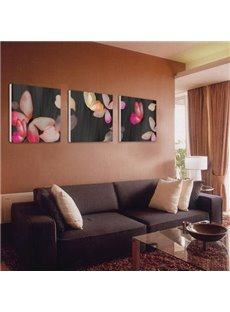 New Arrival Beautiful Pink Butterflies Print 3-piece Cross Film Wall Art Prints