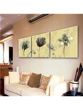 New Arrival Pretty Flowers Print 3-piece Cross Film Wall Art Prints