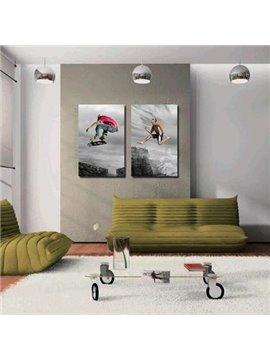 New Arrival Cool Guys Sporting Print 2-piece Cross Film Wall Art Prints