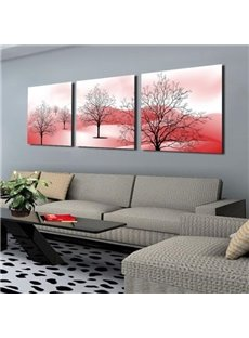 New Arrival Modern Style Lovely Trees Print 3-piece Cross Film Wall Art Prints