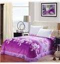 New Arrival High Quality Beautiful Purple Lily Flowers Print Sheet