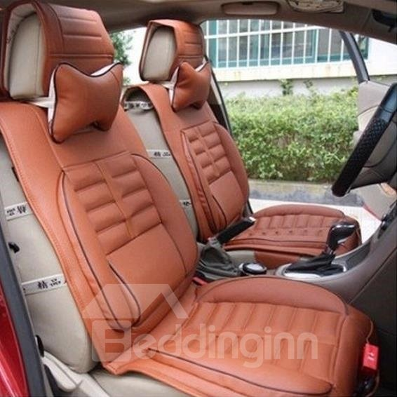 Popular Luxurious Stylish PU Leatherette And Deluxe Fashion Universal Car Seat Covers