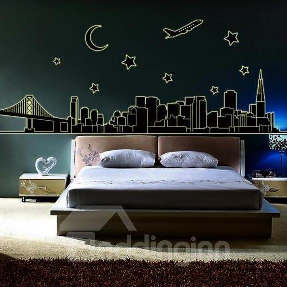 Beautiful Famous Scenic Spots Fluorescent Print Wall Stickers