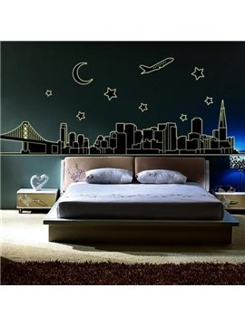 Beautiful Famous Scenic Spots Fluorescent Print Wall Stickers