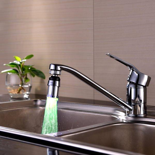 Contemporary ABS Multi-color LED Light Kitchen Faucet Spout