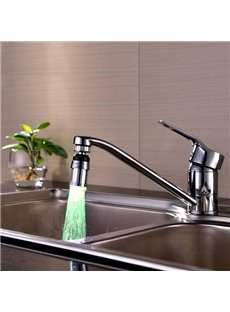 Contemporary ABS Multi-color LED Light Kitchen Faucet Spout