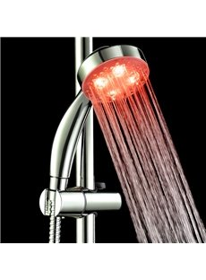 Contemporary LED Color-changing ABS Shower Head Faucet