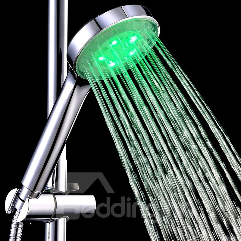 New Arrival Contemporary LED ABS Shower Head Faucet with Colors Changing