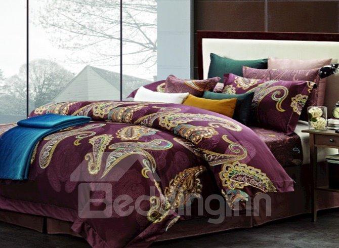 Royal Color Staple Cotton 4 Piece Duvet Cover Sets