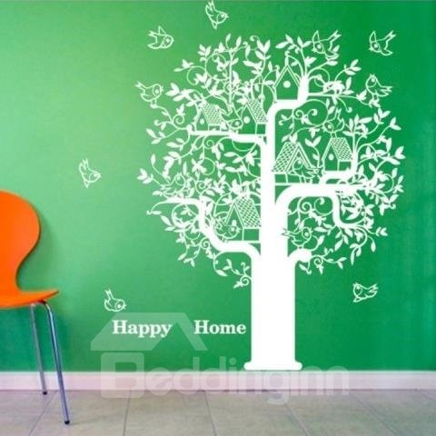 New Arrival Beautiful Tree and Birds Nest Print Wall Stickers