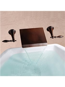 New Arrival ORB Black Bronze Waterfall Wall Mount Faucet