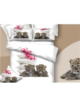 New Arrival Two Cute Baby Tigers Print 3D Bedding Sets