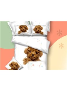New Arrival Cute Teddy Dog Print 3D Bedding Sets