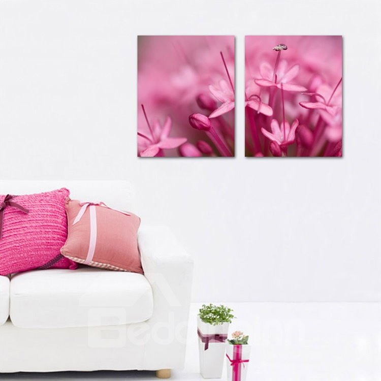 New Arrival Scent Flowers 3-piece Cross Film Wall Art Prints