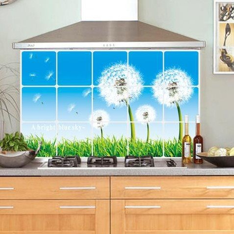 New Arrival Dandelion Anti-Smoke Kitchen Wall Sticker