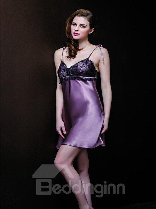 Hot Selling High Quality Graceful Silk Sleepwear