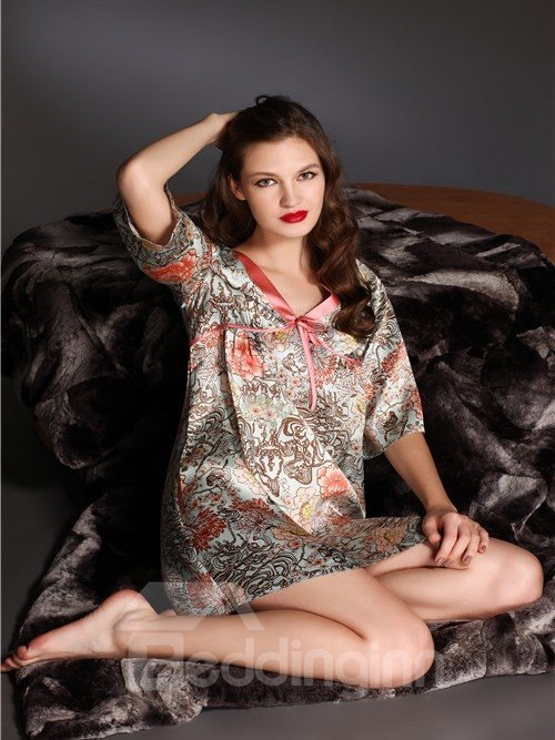High Quality Silk Flower Sleepwear