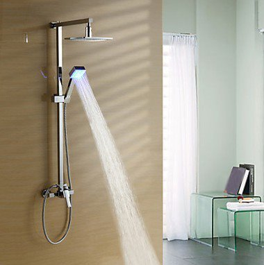 LED Color Changing 8 Inch Shower Head and Hand Shower