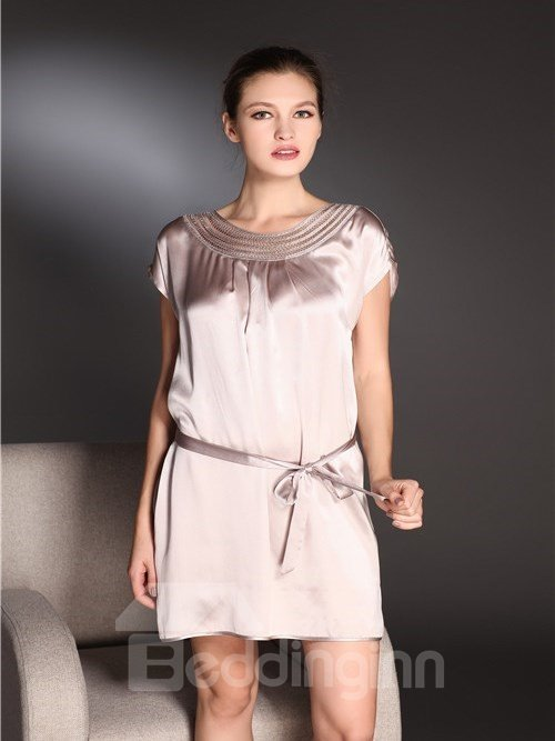 High Quality Graceful and Beautiful Skincare Silk Sleepwear