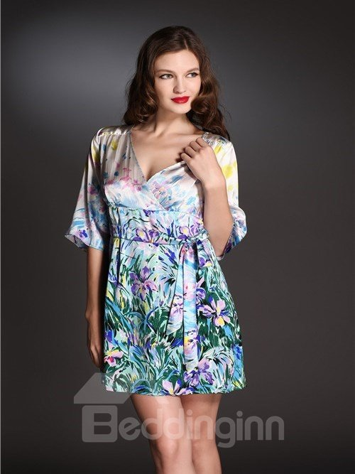High Quality Beautiful Printing Skincare Sleepwear